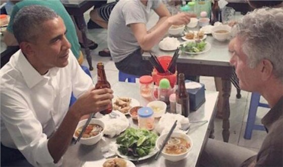 奥巴马吃越南米粉